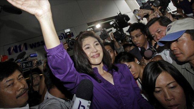 Pheu Thai party leader Yingluck Shinawatra