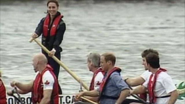 Kate and William on dragonboat