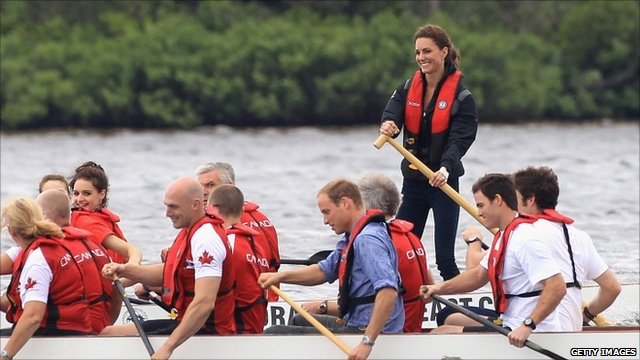 The Duke and Duchess of Cambridge competing in the race