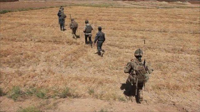 Troops on patrol in Afghanistan