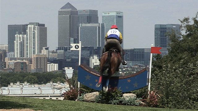 Olympic equestrian events will take under the shadow of Canary Wharf in 2012