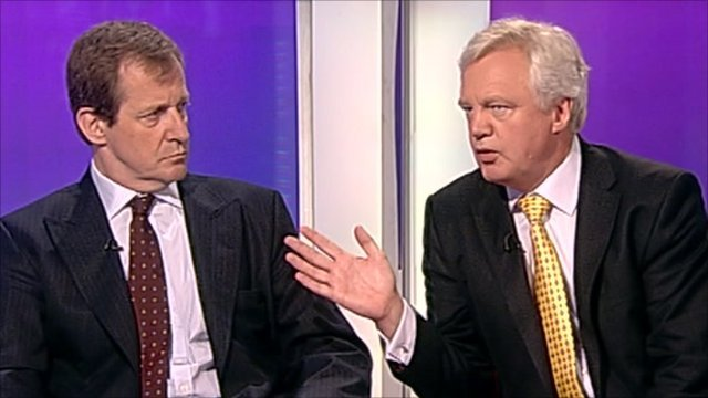 Alastair Campbell and David Davis