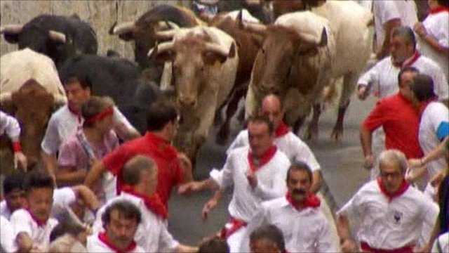 No major injuries were recorded at the first day in Pamplona