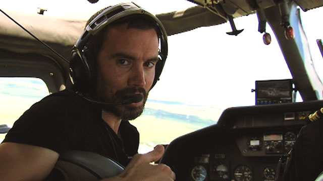 BBC Sport's Andrew Cotter flies over Royal St George's