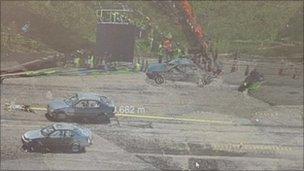 Scanned crash site
