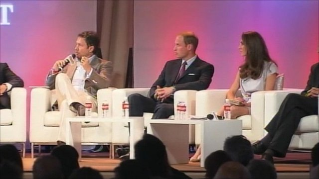 Prince William and the Duchess of Cambridge at an event in LA