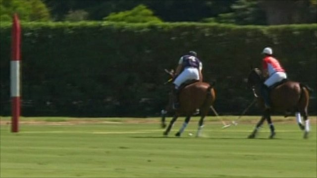 Prince William scores at the Santa Barbara Polo and Racquet Club
