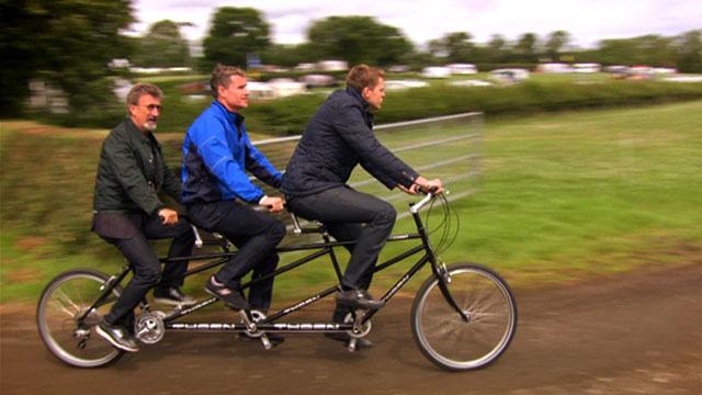 Eddie Jordan, David Coulthard and Jake Humphrey