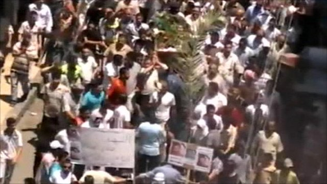 Syrian protests, reportedly in Homs
