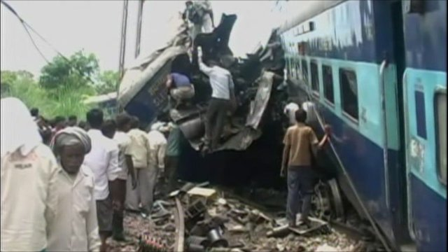 The aftermath of the train crash