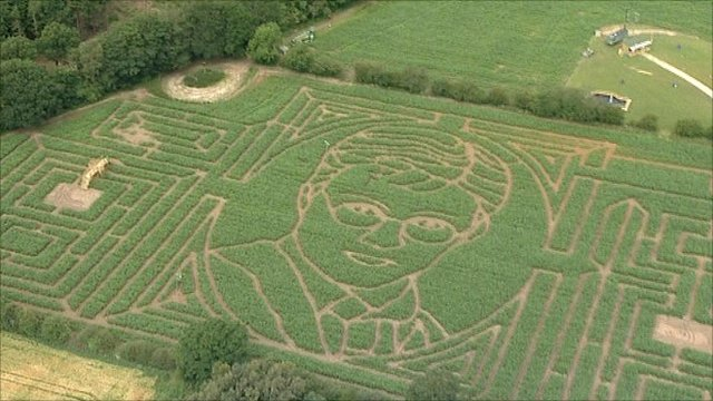 Harry Potter maze near York
