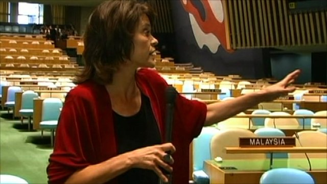 Barbara Plett in the UN General Assembly