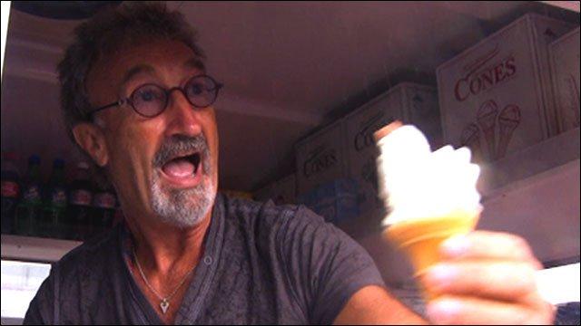 Eddie Jordan makes ice cream