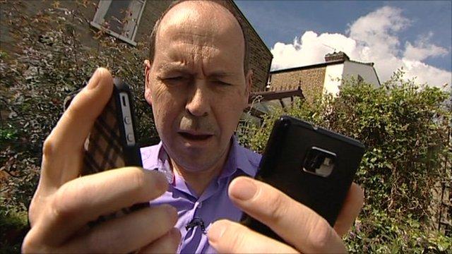 Rory Cellan-Jones with phones