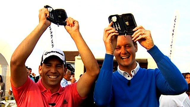 Sergio Garcia and Dan Walker