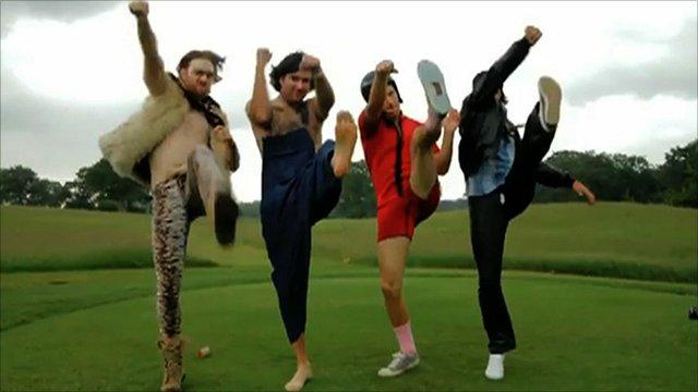 Ben Crane, Bubba Watson, Rickie Fowler and Hunter Mahan are the Golf Boys