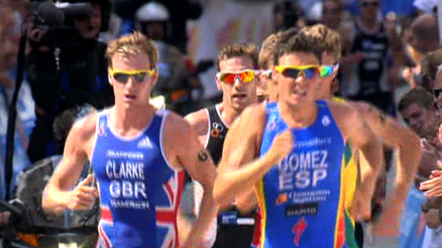 Men's elite triathlon in Hamburg