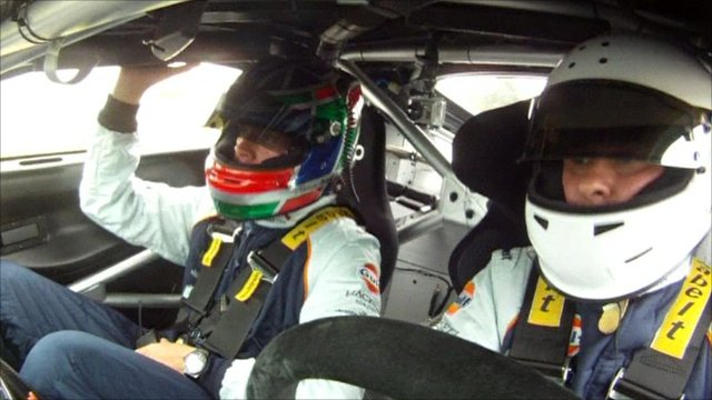 Chris Partridge in driver's seat
