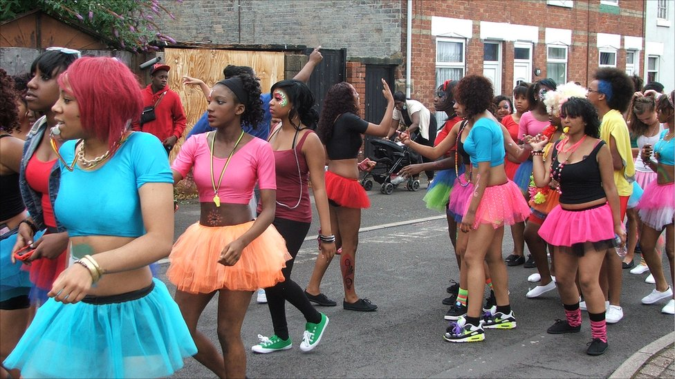 Colourful costumes at Derby\u0027s Caribbean Carnival