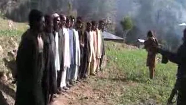 Pakistan police in Taliban video