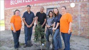 Volunteers at Hanover Park. Photo: Dalene Ingham-Brown