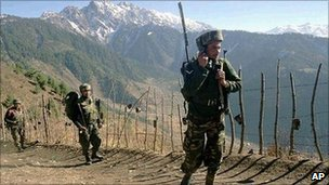 File photo of Indian troops near the Line of Control which divides Kashmir between India and Pakistan