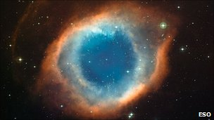 Colour-composite image of the Helix Nebula (NGC 7293) was created from images obtained using the the Wide Field Imager (WFI), an astronomical camera attached to the 2.2m Max-Planck Society/ESO telescope at the La Silla Paranal observatory in Chile. Photo: ESO