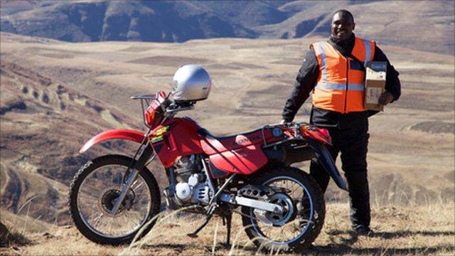 Thabiso Phoka and his motorbike