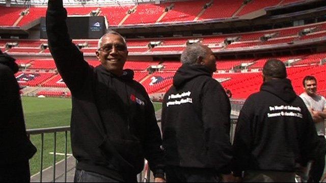 Former prisoners of Robben Island visit Wembley