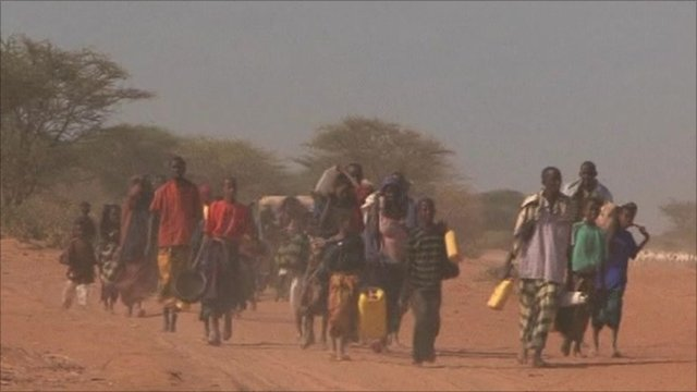 Hundreds are fleeing their homes to escape the famine