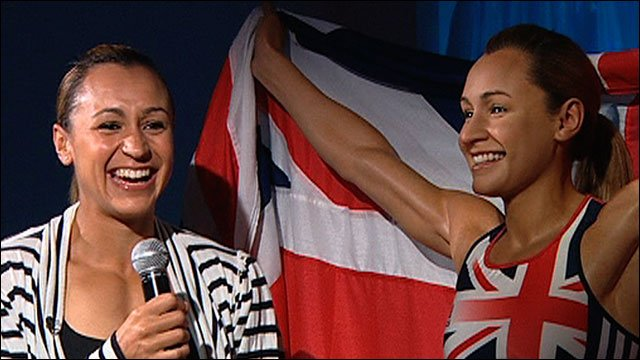 Jessica Ennis and her waxwork