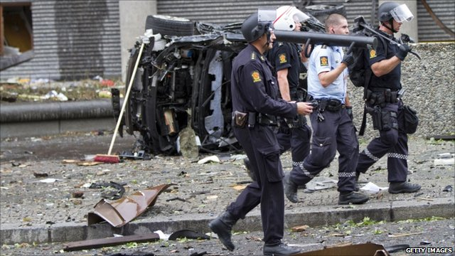 Blast site in Oslo