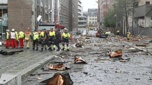 Oslo bomb site, 23 July
