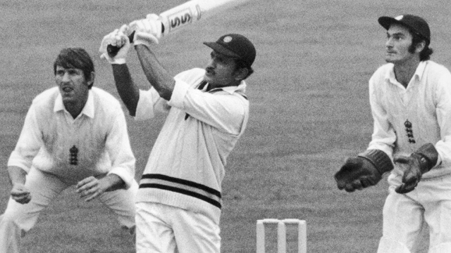 India batting against England in 1971