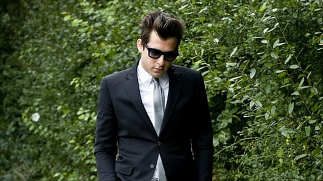 Mark Ronson attends the service of Amy Winehouse