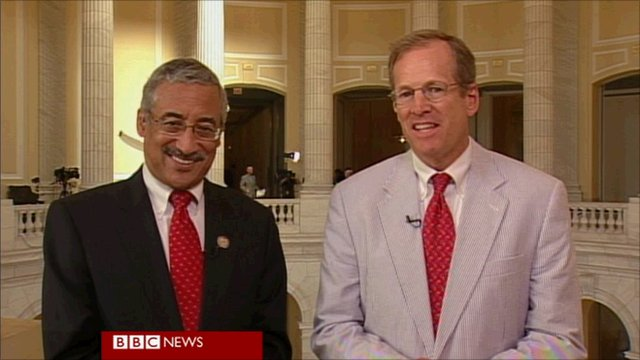 Democratic Representative Bobby Scott and Republican Representative Jack Kingston