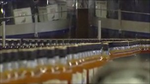 whisky in production