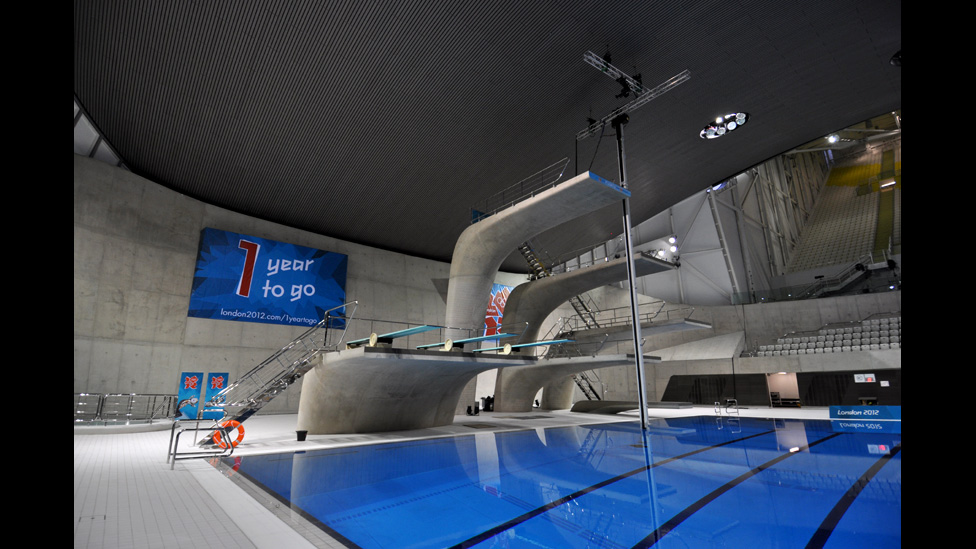Bbc News London 2012 Inside The Olympic Aquatics Centre