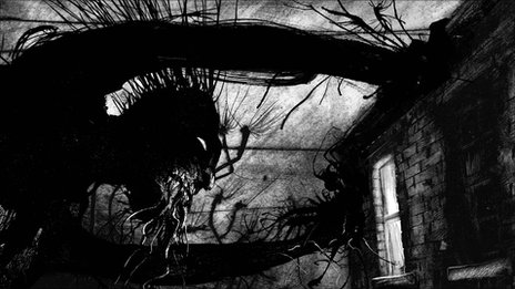 Illustration from A Monster Calls by Jim Kay