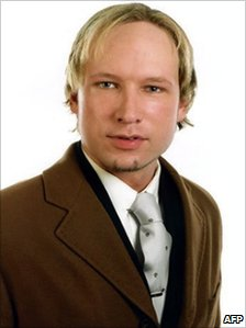 Anders Behring Breivik, undated image obtained on July 23, 2011 on Facebook
