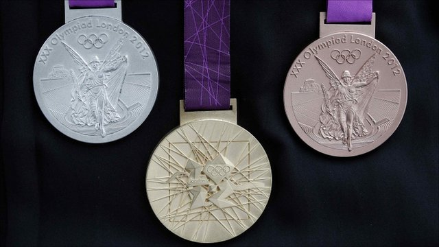 Silver, gold and bronze medals