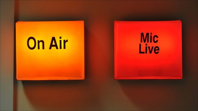 On air and mic live illumintated signs