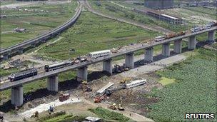 Site of crash in Wenzhou
