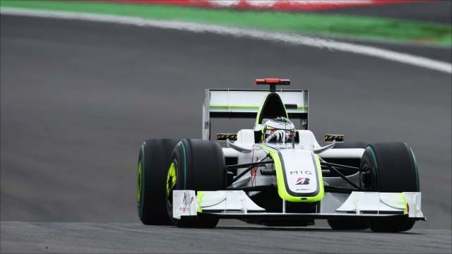 Jenson Button during practice for the 2009 German Formula 1 Grand Prix