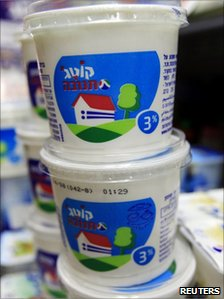 Stack of cottage cheese cartons