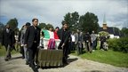 Pall bearers carry the coffin of Bano Rashid, 18, one of the victims of the massacre on Norway's Utoeya island, during her funeral on the Nesodden peninsula, south of Oslo on 19 July 2011.