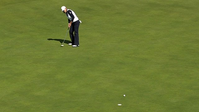 Christie Keer sinks a monster eagle on the 17th