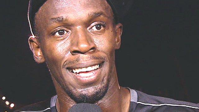 Usain Bolt in Stockholm