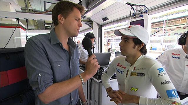Jake Humphrey and Sergio Perez