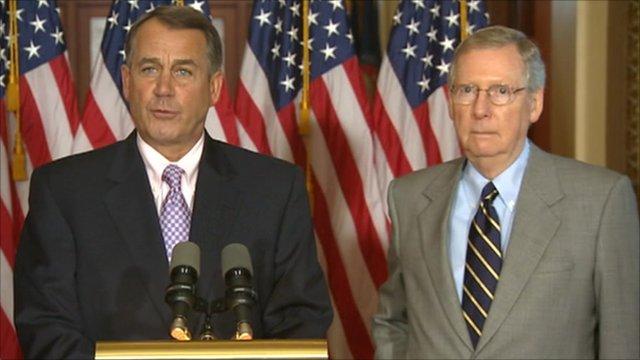House Speaker John Boehner and Senate Republican leader Mitch McConnell